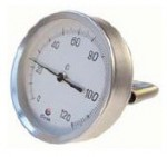 Termometre bimetalice pentru cuptor, cu teava