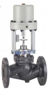 Robinet  ventil inox, actionat pneumatic PN40